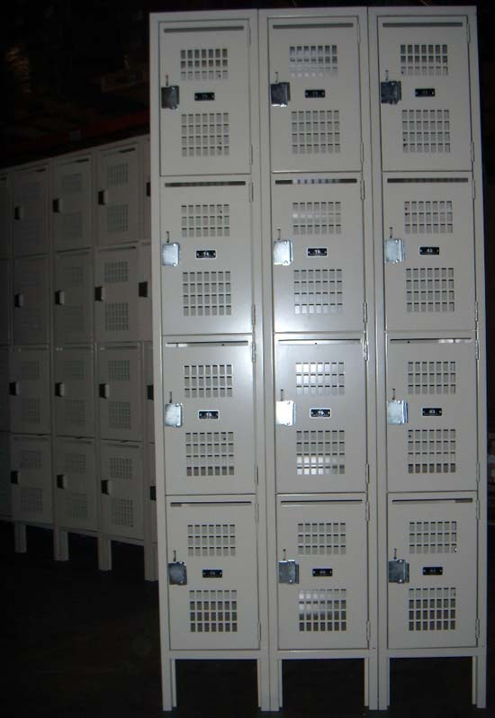Ventilated Box Lockers - 4 Tier Lockers
