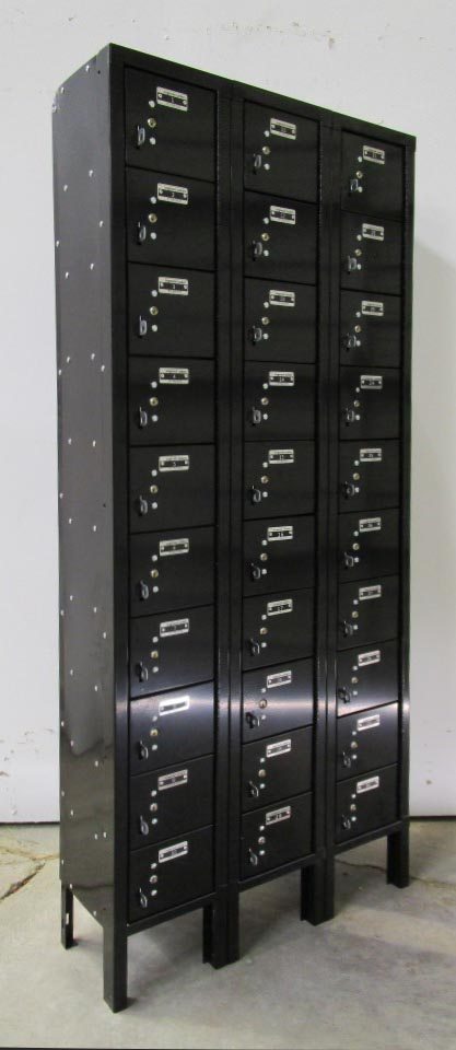 Black 12-Tier Cell Phone Lockers