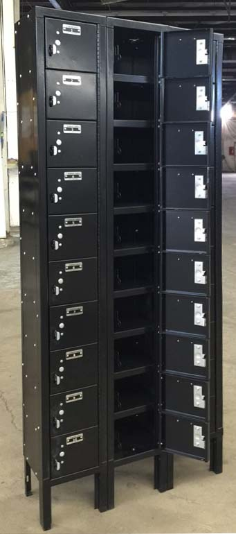 Black Cell Phone Style Lockers
