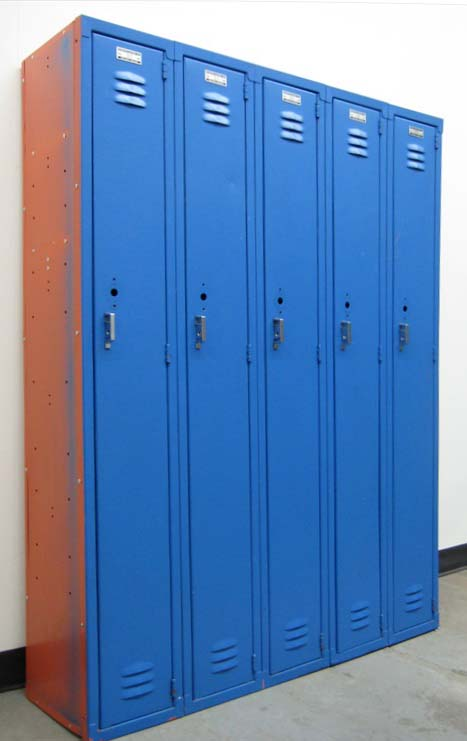 9 inch wide blue metal lockers