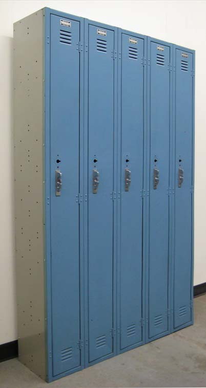 Narrow Single Tier Lockers