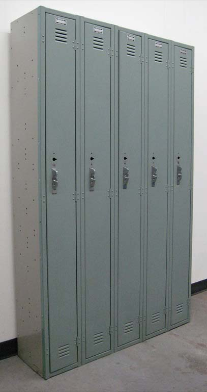 Light Green Single Tier Metal Lockers