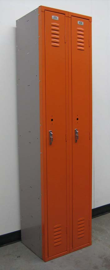 Orange Single Tier Skinny Lockers