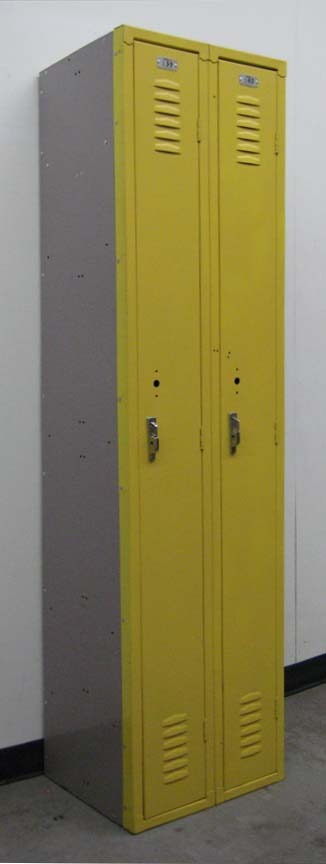 Yellow Single Tier Narrow Locker