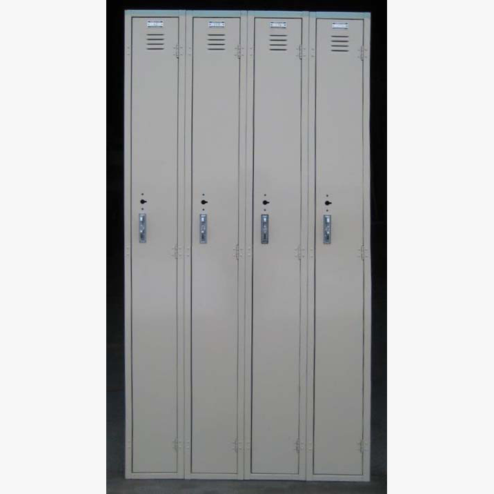 Tan Single Tier Worley Metal Lockers