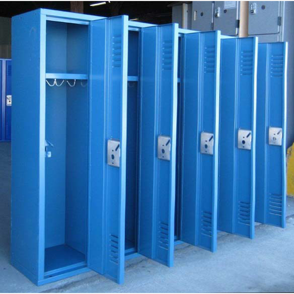 Small Metal Locker In Blueimage 4 image 4