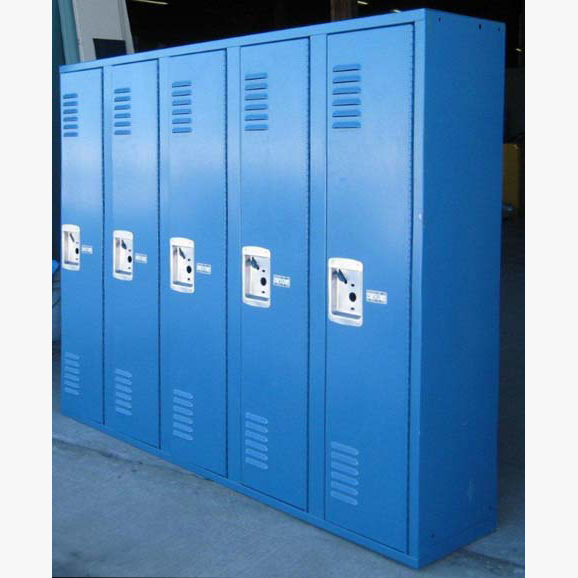 Small Metal Locker In Blueimage 2 image 2