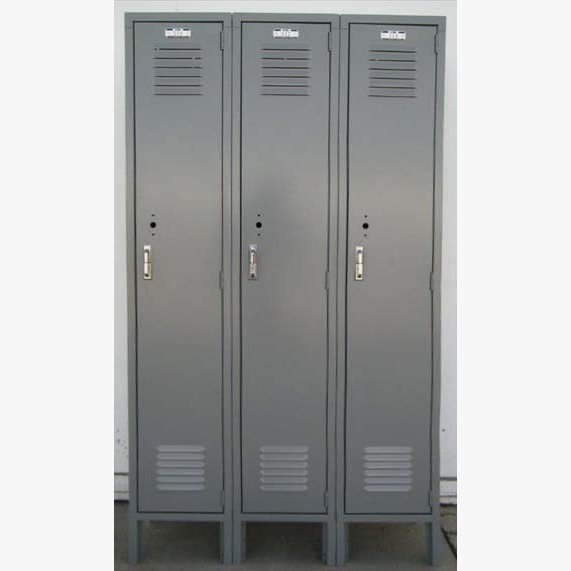 Gray Single Tier Lyon Metal Lockers
