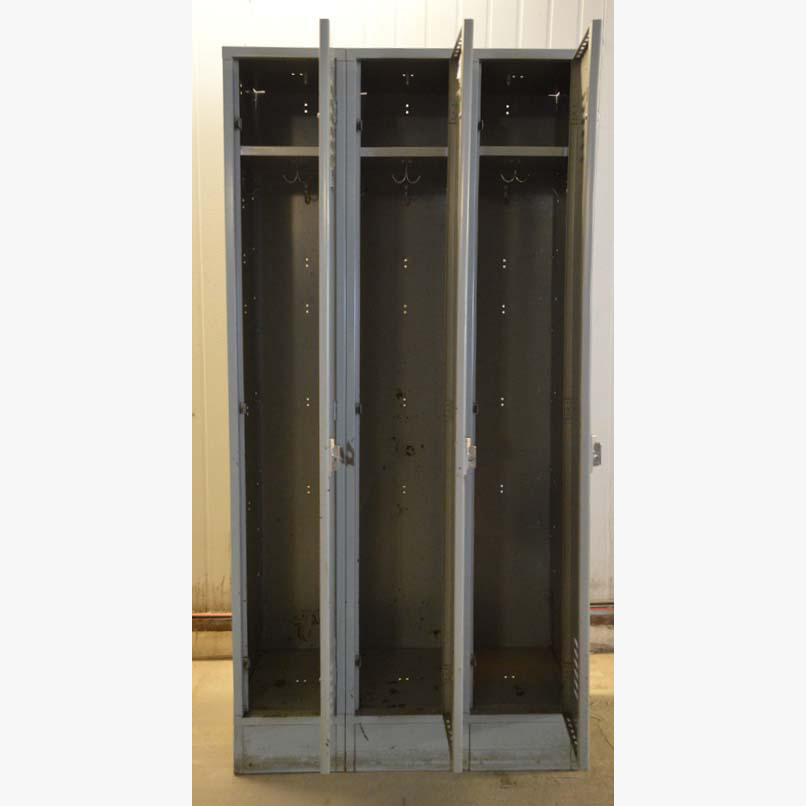 Gray Single Tier Refurbished Lockersimage 3 image 3