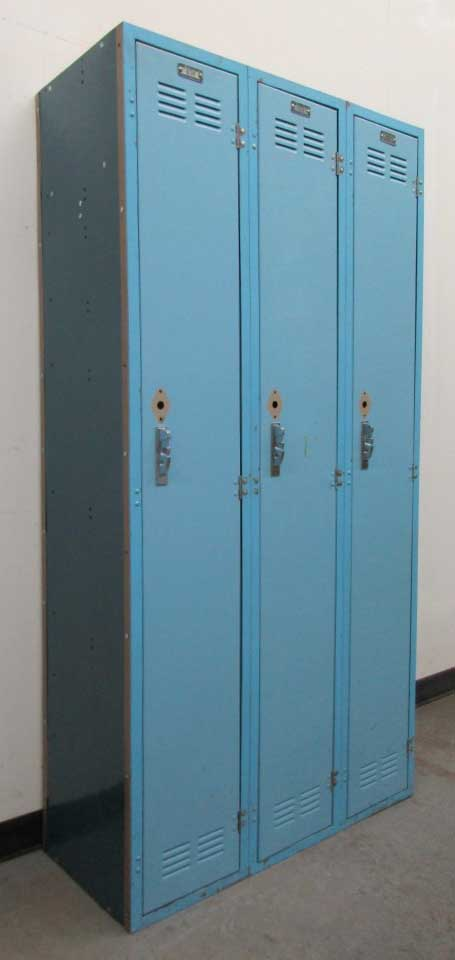 Blue Worley Metal Lockers