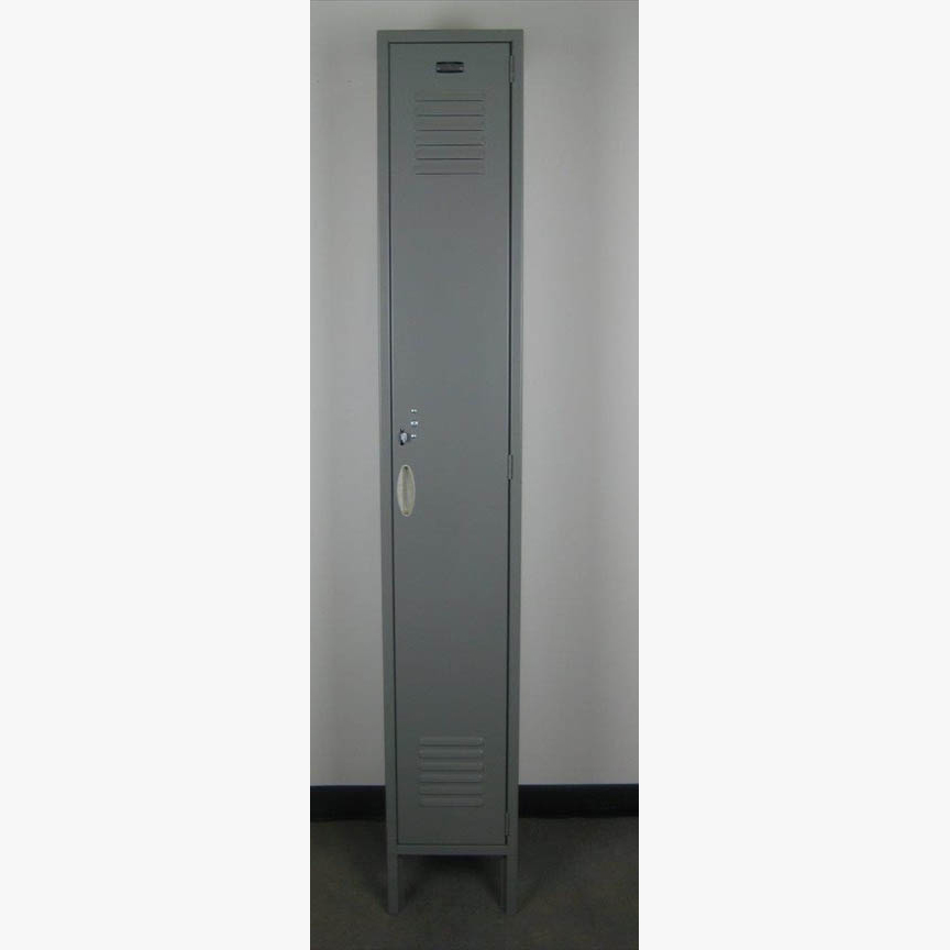 Single Tier Gray Locker with legsimage 3 image 3