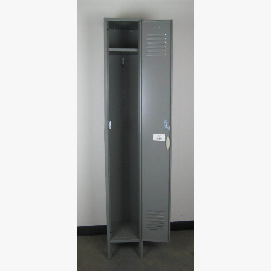 Single Tier Gray Locker with legsimage 2 image 2