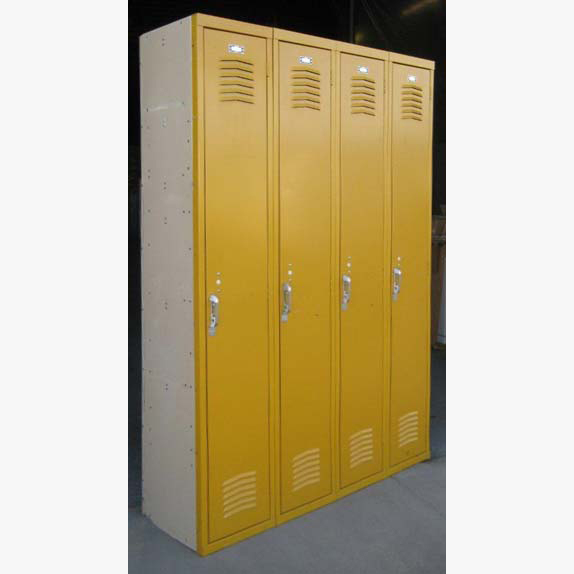 Yellow Single Tier Interior Metal Lockersimage 2 image 2
