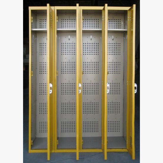 Yellow Single Tier Interior Metal Lockersimage 3 image 3
