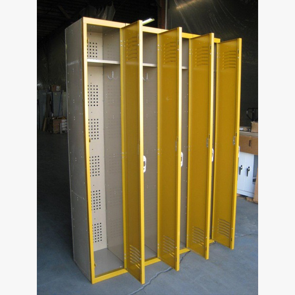 Yellow Single Tier Interior Metal Lockersimage 4 image 4