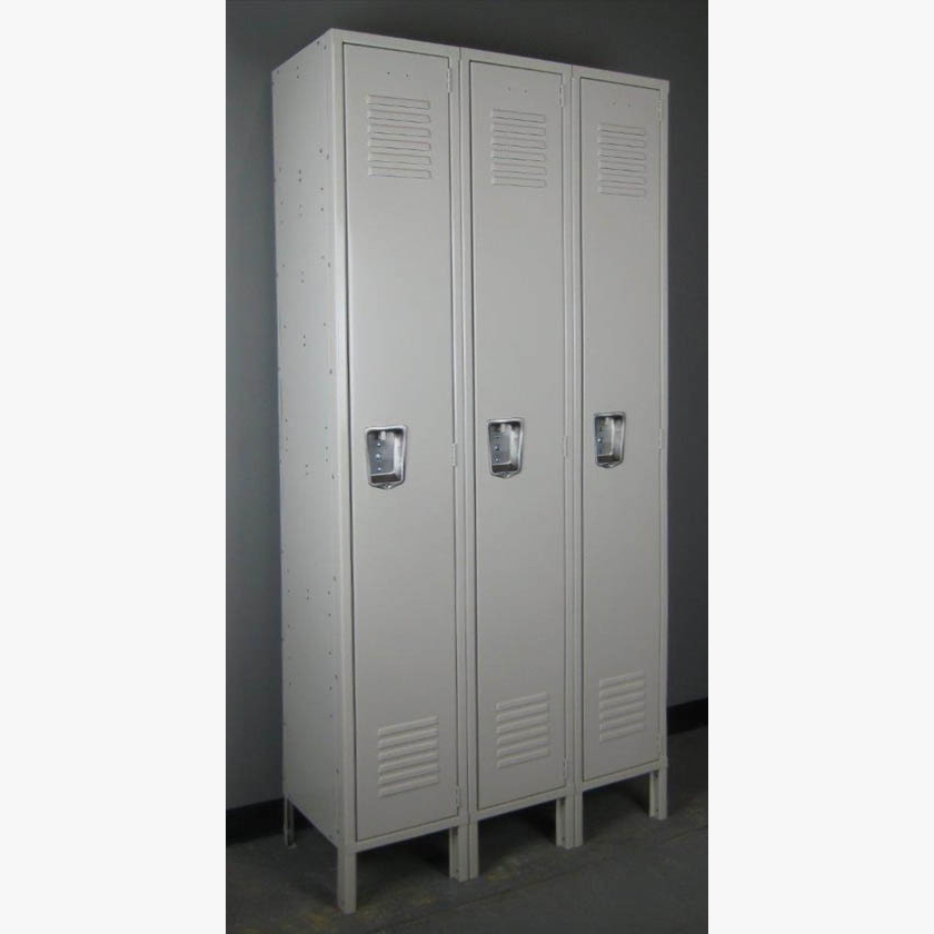 Single Tier Tan Metal Lockers