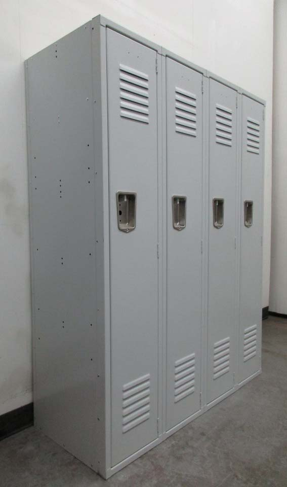 Single Tier Gray School Lockers