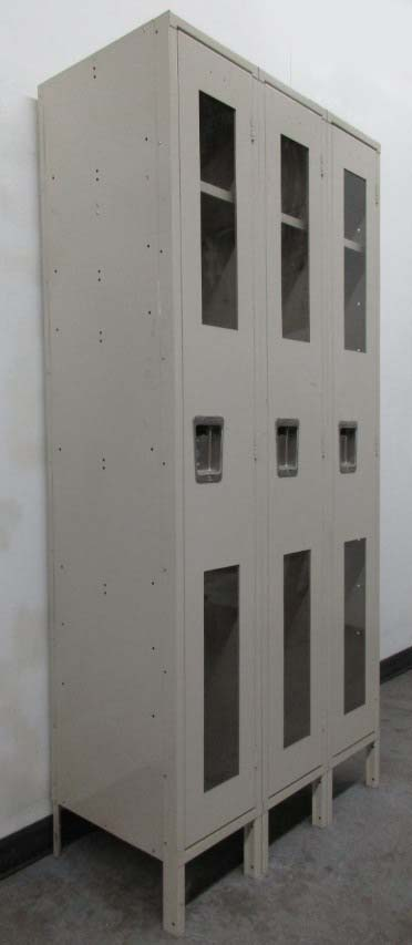 1-Tier Lockers with clear doors