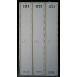 White Single Tier Plastic Lockers
