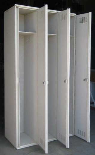 White Single Tier Plastic Lockersimage 3 image 3