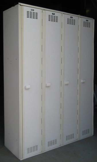 White Single Tier Plastic Lockersimage 4 image 4