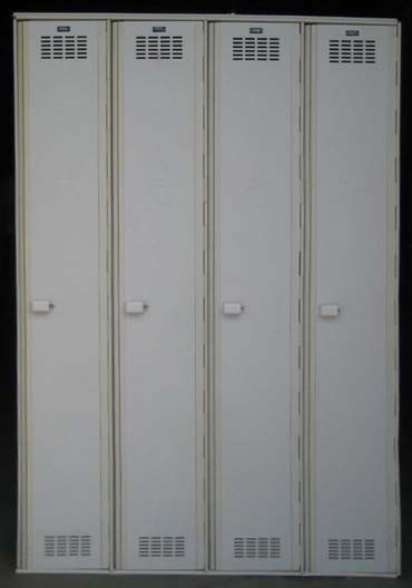 White Single Tier Plastic ADA Hall Lockers