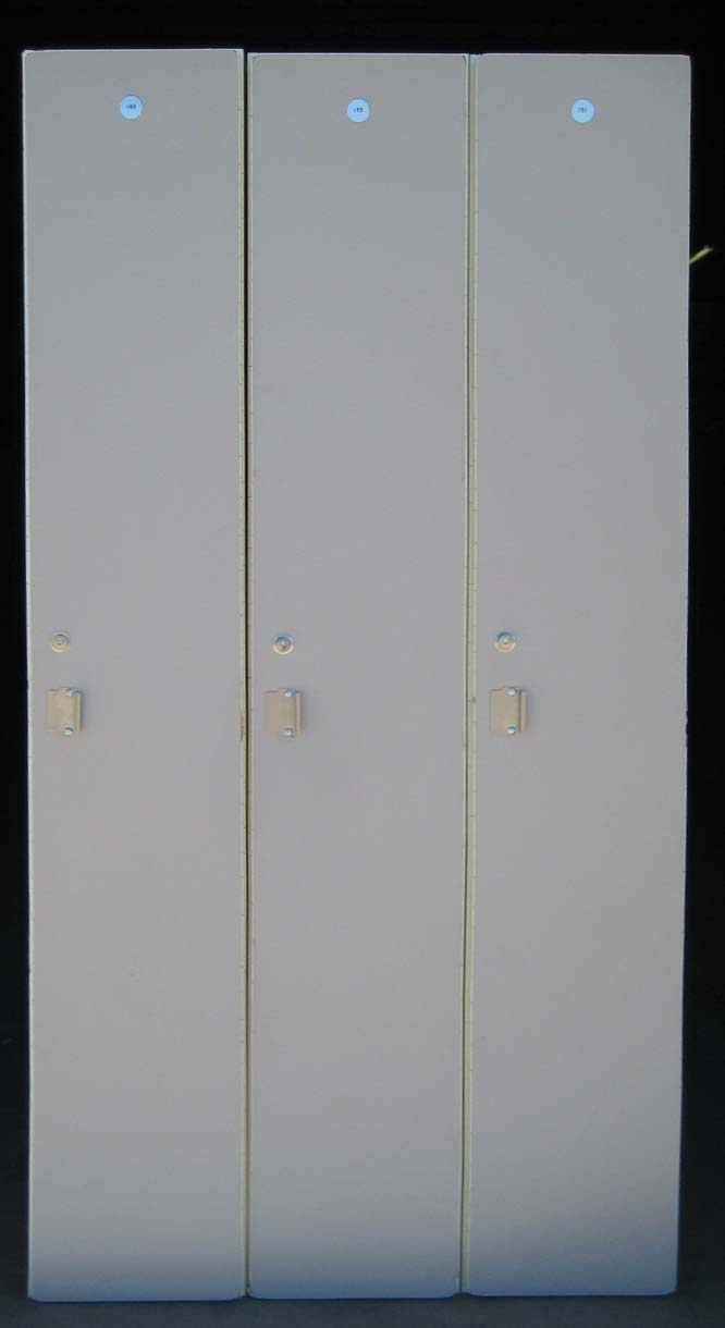 Single Tier Wood Laminate Lockers