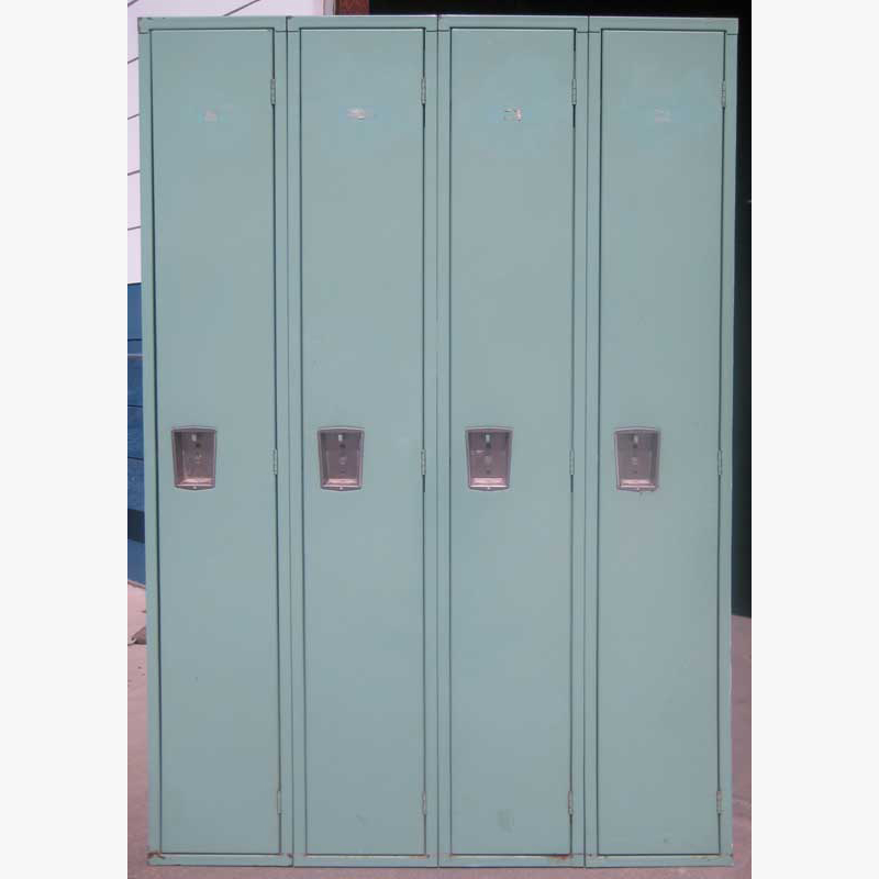 Green Metal School Lockers