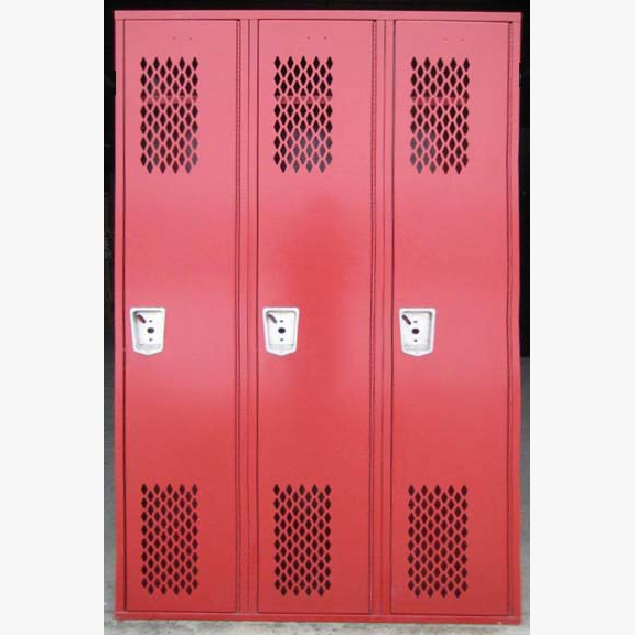 Red Single Tier Lockers