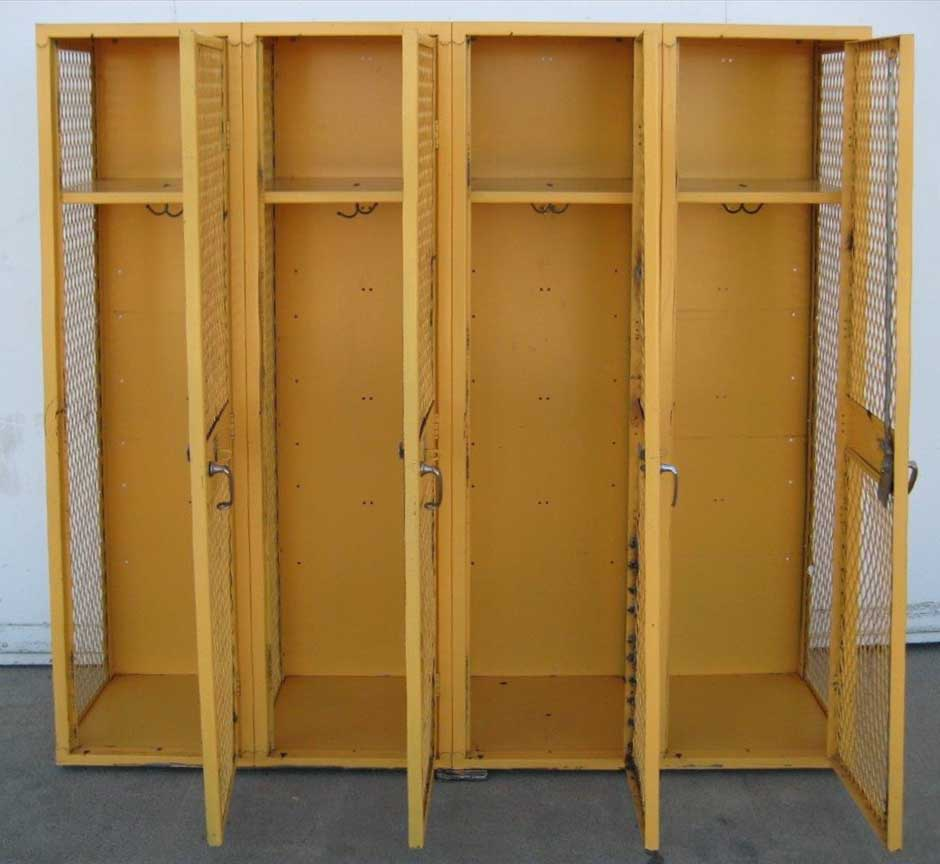 Yellow Single Tier Ventilated Lockersimage 3 image 3
