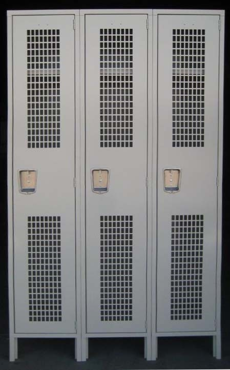 Tan Single Tier Penco Metal Gym Lockers