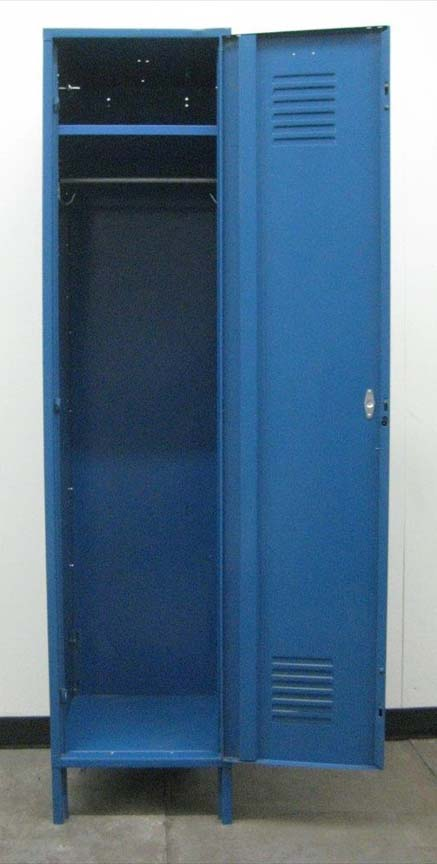 Blue Penco Single Tier Lockers image 3 image 3