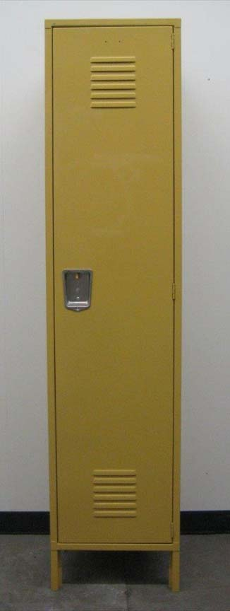 Single Tier Yellow Metal Lockerimage 2 image 2