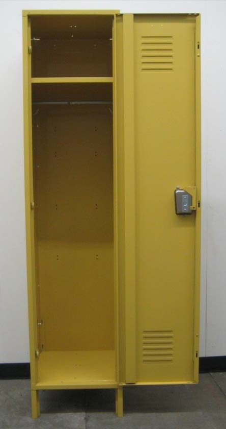 Single Tier Yellow Metal Lockerimage 3 image 3