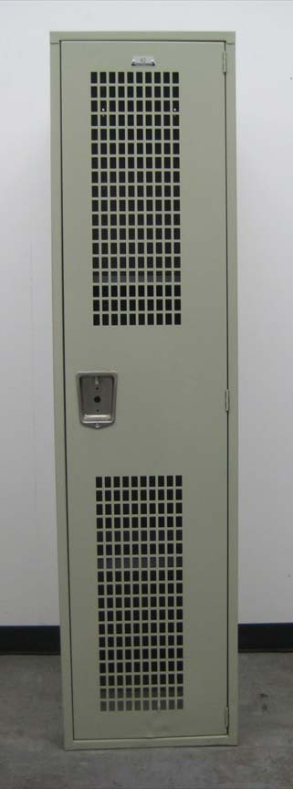 Single Tier Metal Locker with Ventilated Doorsimage 2 image 2