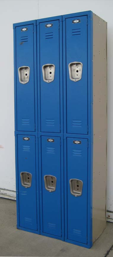 Narrow Double Tier Metal Storage Lockers