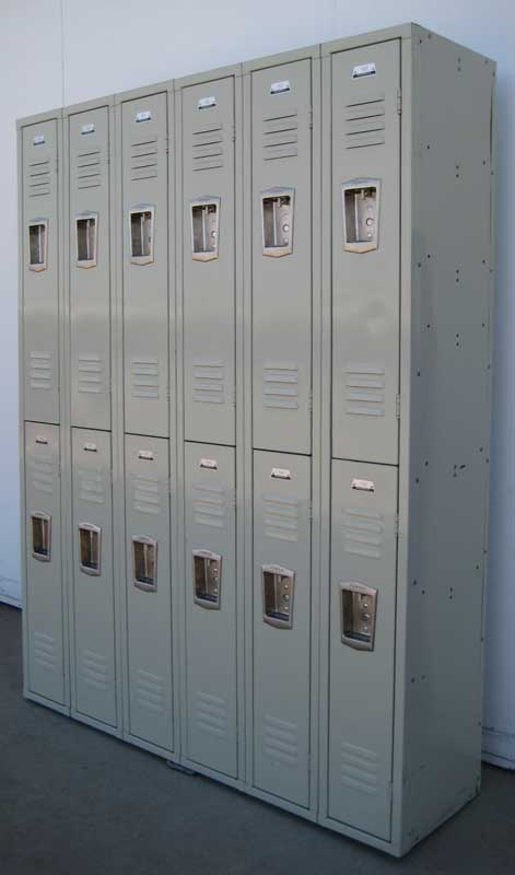 Double Tier Student Hall Lockers
