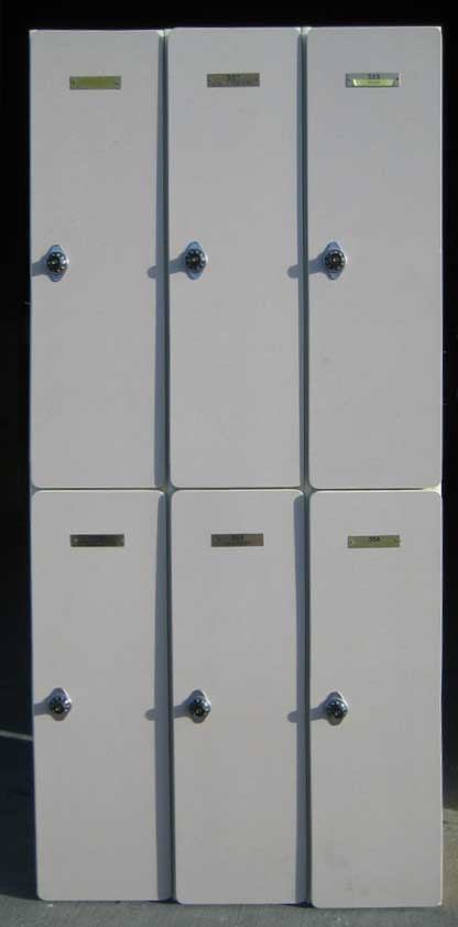 Used Plastic Laminate Wood Lockers