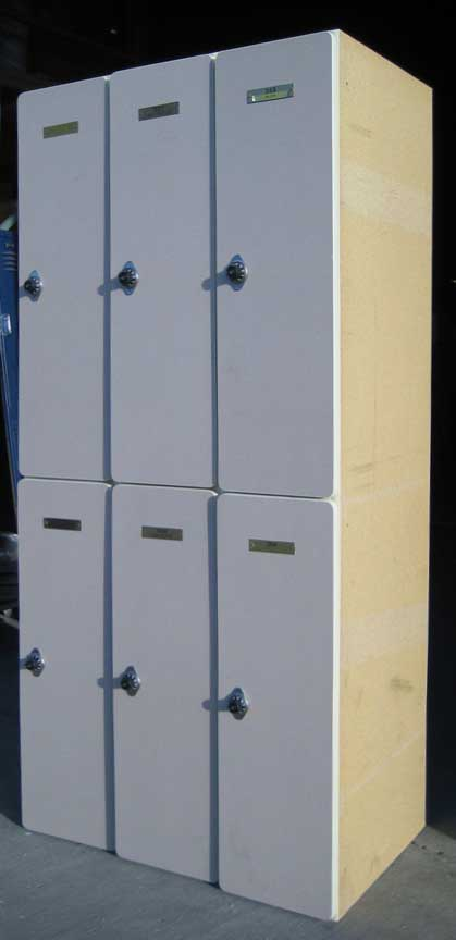 Used Plastic Laminate Wood Lockersimage 2 image 2