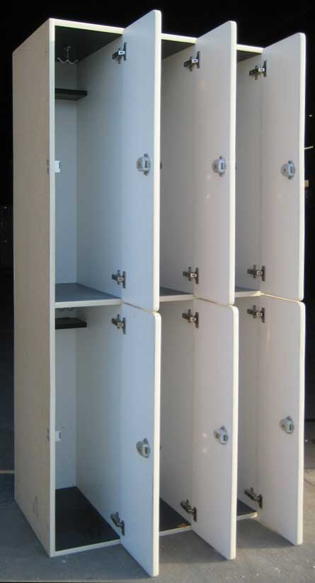 Used Plastic Laminate Wood Lockersimage 3 image 3