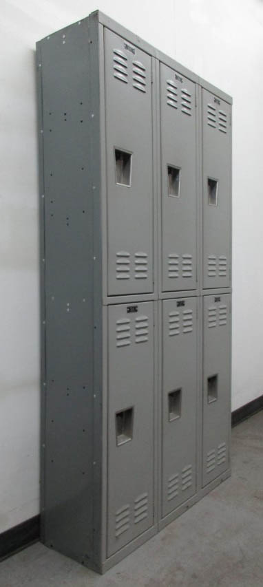 Double Stacked Gray Lockers