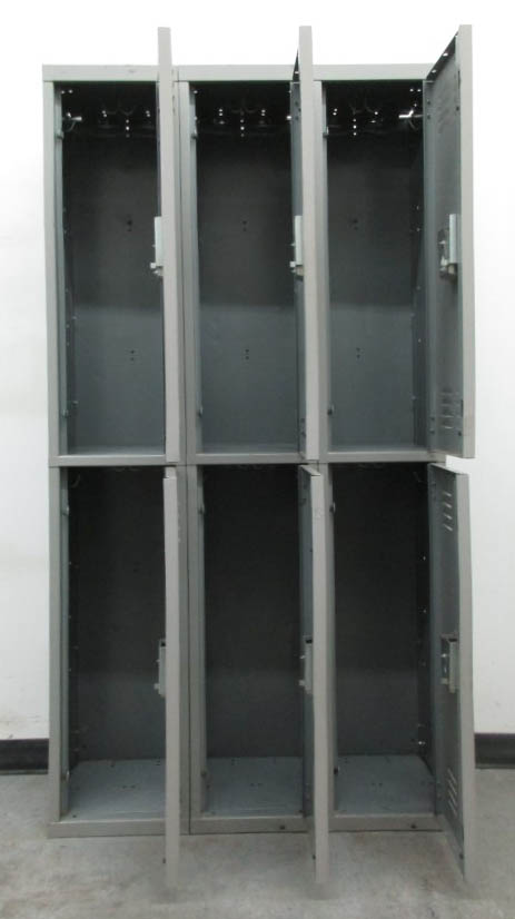 Double Stacked Gray Lockersimage 3 image 3