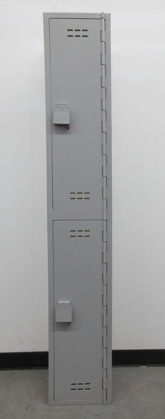 Gray Double Stack Used Lockers