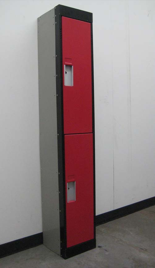 Two Tone Double Tier Storage Locker