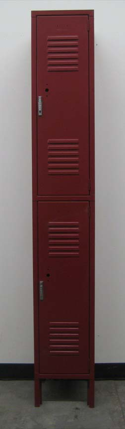 Maroon coloered 2-Tier Metal Lockersimage 3 image 3