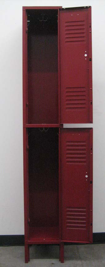 Maroon coloered 2-Tier Metal Lockersimage 2 image 2
