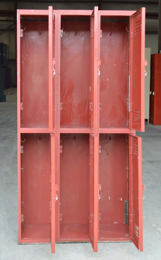 Red Double Tier All Steel Lockersimage 2 image 2