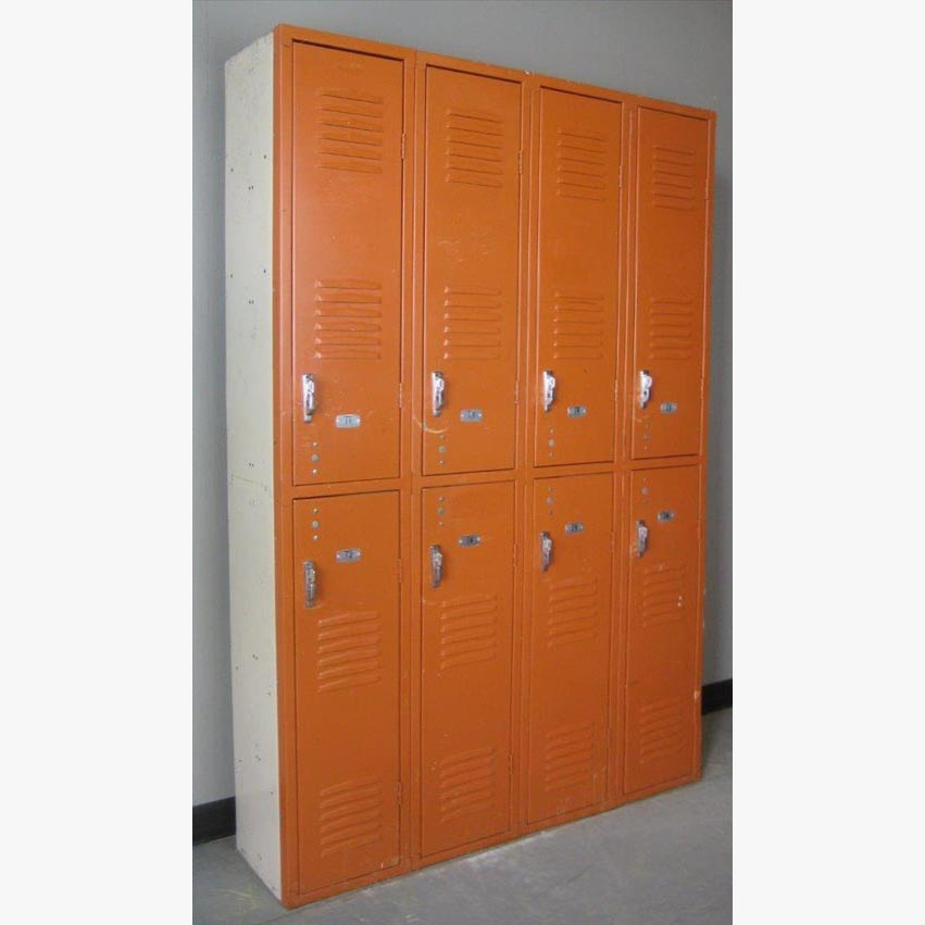 Brown Double Tier metal Lockers