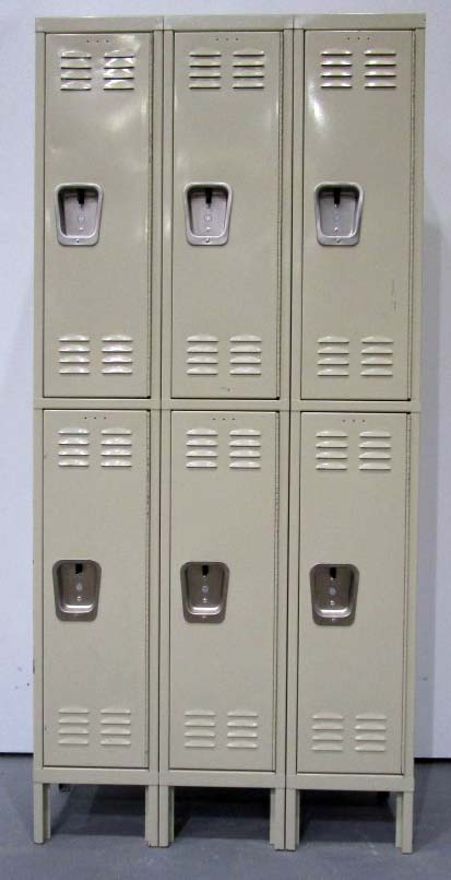 Tan Hallowell Metal Lockers
