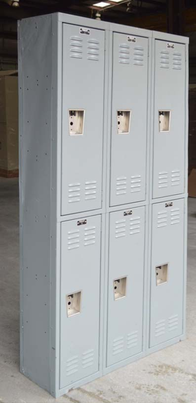Double Stacked Steel Storage Locker